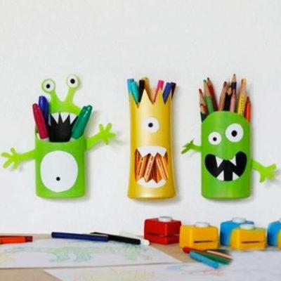 Fabriquer des pots à crayons amusants : les petits monstres !