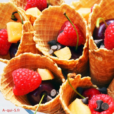 Cornet de fruits : un dessert gourmand parfait pour l'été !