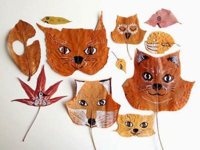 Activité avec des feuilles mortes : les animaux de la forêt
