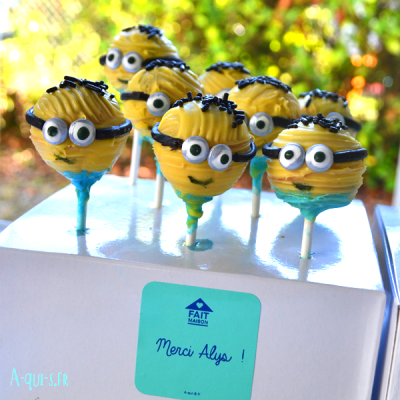 Les Cake-Pop en forme de Minions