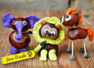 Activité avec des marrons : les animaux de la savane !