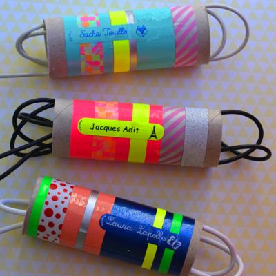Recyclage de rouleau de papier toilette pour ranger vos cables et chargeurs