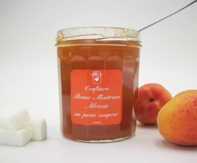 La confiture Bonne Maîtresse à l'abricot, au passé composé