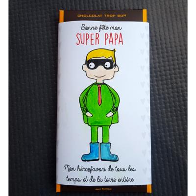 Bricolage fête des pères : une tablette de chocolat personnalisée
