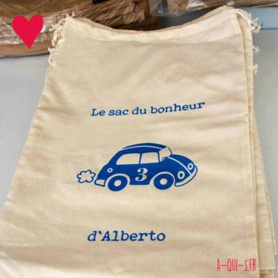 A-qui-pocket, le sac du bonheur personnalisé d'Alberto :)
