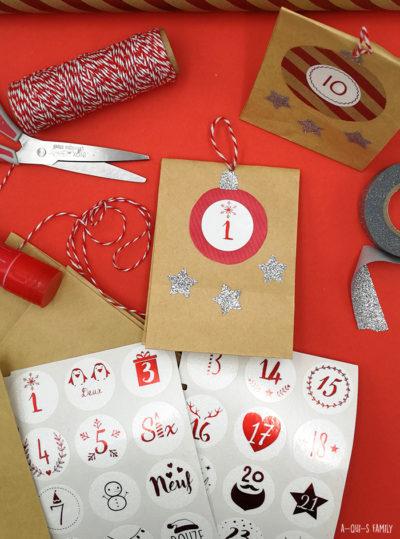 En attendant Noël : un joli calendrier de l'Avent DIY