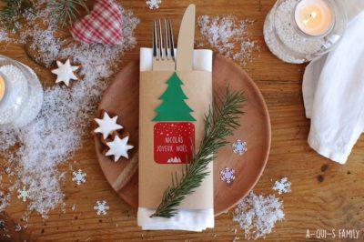 Des marques places pour le repas de Noël : Tuto