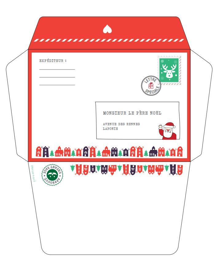Belle Ma lettre au Père Noël : modèles à imprimer - LL-23