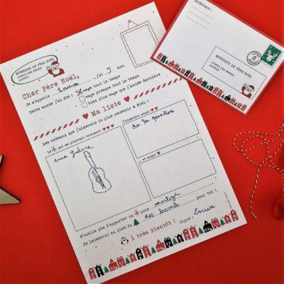 Ma lettre au Père Noël et sa jolie enveloppe à imprimer