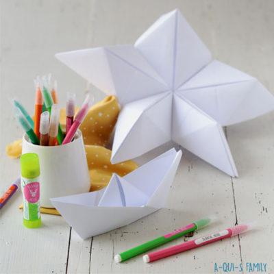 DIY origami pour les enfants : Des étoiles en papier !