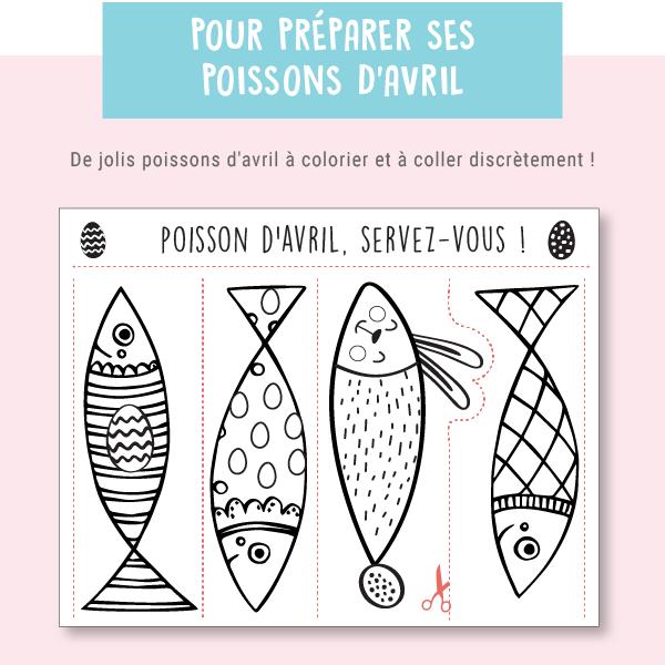 Poissons D Avril Printable A Decouper Special Paques