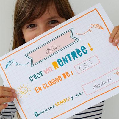 Premier jour d'école  : Conseils + Pancarte à imprimer