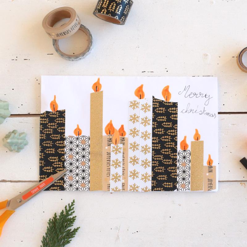 Fabriquer des cartes de voeux avec du masking tape