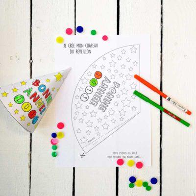 Activité Nouvel an pour les enfants : Je crée mon chapeau !