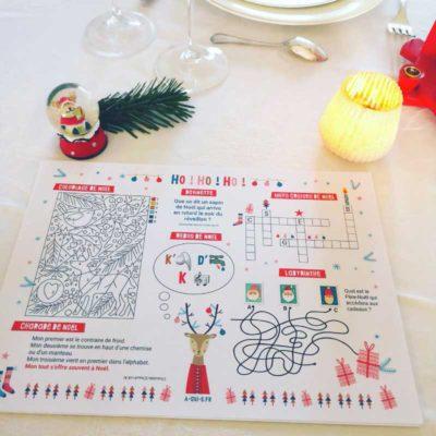 Set de table à imprimer pour occuper les enfants à Noël !