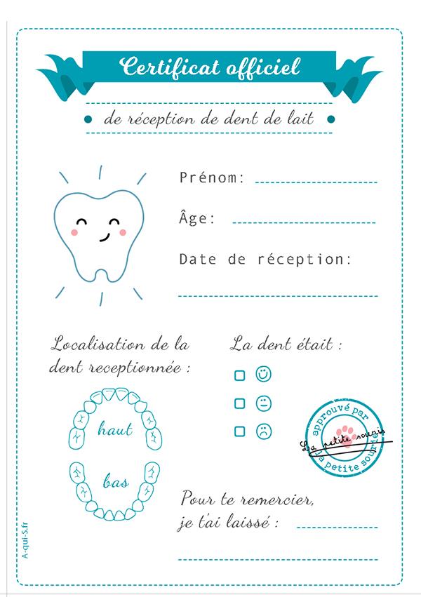 Carte Petite Souris A Imprimer Certificat Officiel