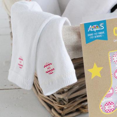 Les étiquettes chaussettes : A-qui-chau7®