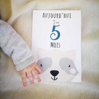 Une photo chaque mois avec bébé : les cartes à imprimer