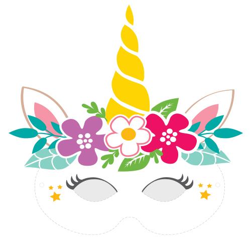 Masque A Imprimer Pour Le Carnaval Mon Masque De Licorne