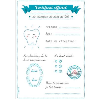 Carte petite souris à imprimer : Certificat officiel