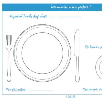 Repas des enfants : et s'ils choisissaient le contenu de leurs assiettes ?(Printable)