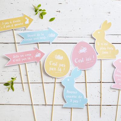 Pancartes pour la chasse aux œufs à imprimer pour Pâques !