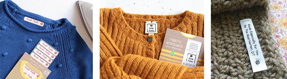 étiquette vêtement pour enfant