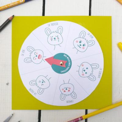 Roue d'émotions à imprimer selon la pédagogie Montessori