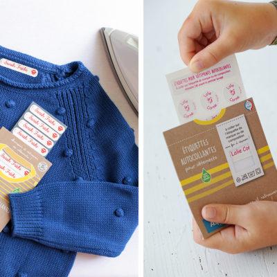 Étiquette vêtement pour enfant : Autocollante ? Thermocollante ? À coudre ?