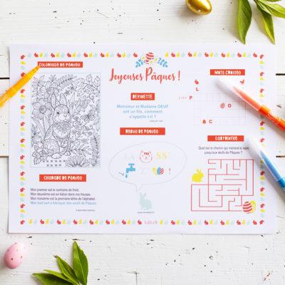 Décoration de table pour Pâques : le set de table pour les enfants