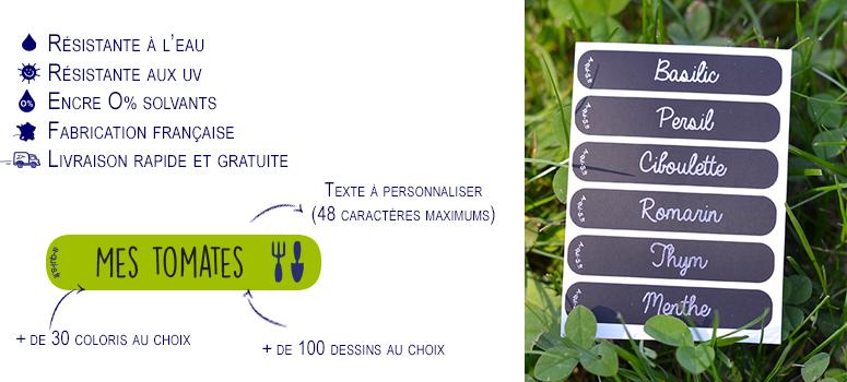 Étiquettes jardins