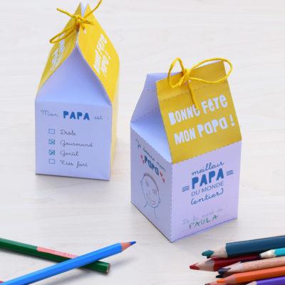 Activité fête des pères : une jolie boîte surprise (printable) !